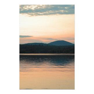 Adirondacks Long Lake Sunset Stationery