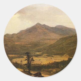 Adirondacks por Asher Brown Durand Pegatina Redonda