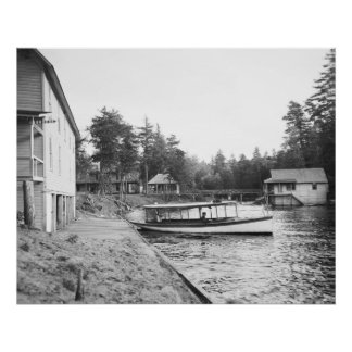Adirondacks Transport, early 1900 Poster