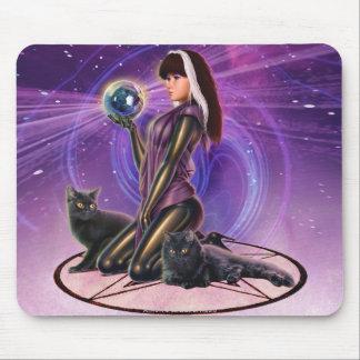 """""""Adivinación de los gatos negros """" Mouse Pad"""
