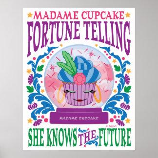 Adivinación de señora Cupcake Poster