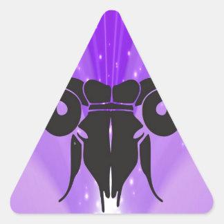 Adivinación del aries del horóscopo del espolón pegatina triangular