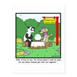 Adivino: Dibujo animado de la panda Postal