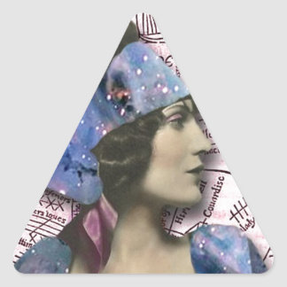 Adivino gitano, arte alterado colcomanias de triangulo personalizadas
