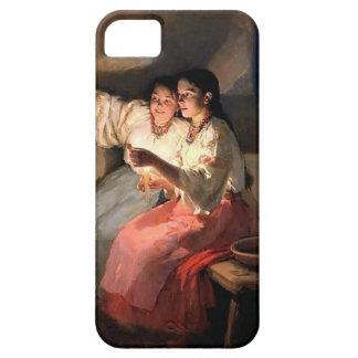 Adivinos de Mykola Pymonenko- Yuletide iPhone 5 Carcasa