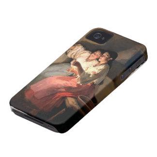 Adivinos de Mykola Pymonenko- Yuletide Case-Mate iPhone 4 Carcasa