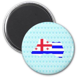 Adjara Flag Map full size 2 Inch Round Magnet
