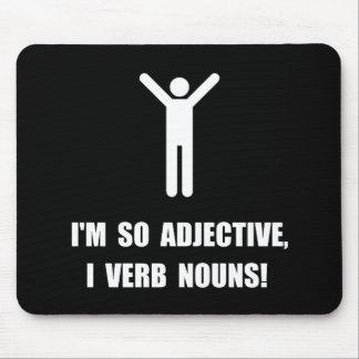 Adjective Verb Nouns Mouse Pad