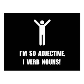 Adjective Verb Nouns Postcard