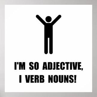 Adjective Verb Nouns Poster