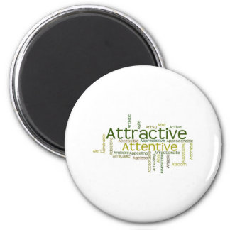 Adjectives to describe yourself starts with A 2 Inch Round Magnet