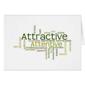 Adjectives to describe yourself starts with A Card