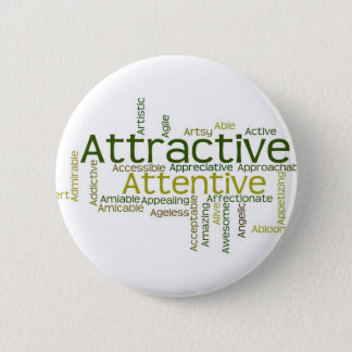Adjectives to describe yourself starts with A Pinback Button