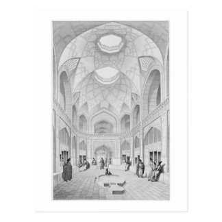 Adji Seid Hussein Bazaar, in Kashan, from 'Voyage Postcard