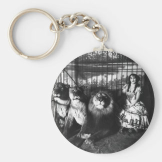 Adjie and the Lions 1899 Basic Round Button Keychain