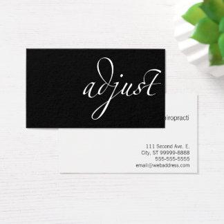 Adjust: Chiropractic Business Card