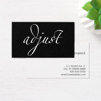 Adjust: Chiropractic / Centered Business Card