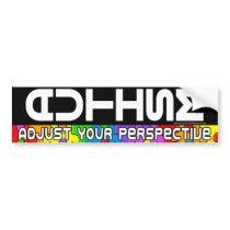 Adjust Your Pespective Bumper Sticker