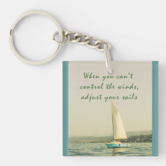 Adjust your sails Single-Sided square acrylic keychain