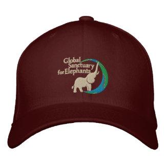 Adjustable baseball cap with logo in burgundy