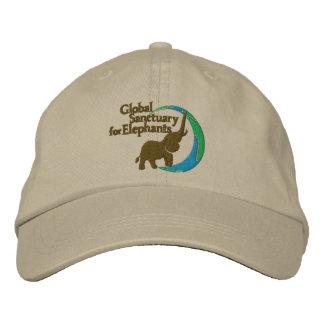 Adjustable baseball cap with logo in khaki
