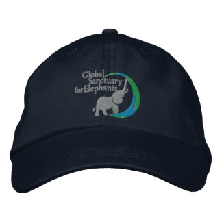 Adjustable baseball cap with logo in navy