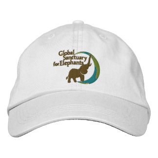 Adjustable baseball cap with logo in white