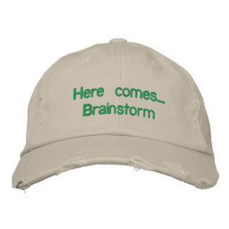 "Adjustable cap ""Here you eat… Brainstorm Embroidered Hat"
