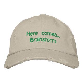 "Adjustable cap ""Here you eat… Brainstorm "" Embroidered Hat"