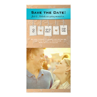Adjustable Color DIY Save the Date Photo Cards