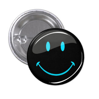 Adjustable Color Neon Black Smiley Button