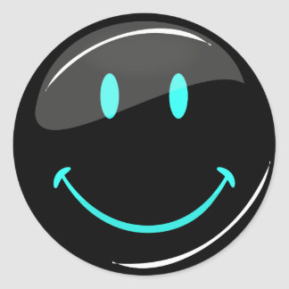 Adjustable Color Neon Glossy Smiley Stickers
