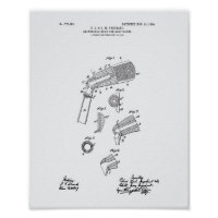 Adjustable Golf Clubs 1904 Patent Art-White Paper Poster