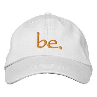 """Adjustable Hat White """"be."""""""