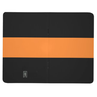 Adjustable Striped Black n Orange Pocket Journal