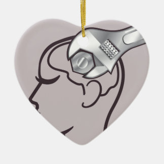 Adjustable wrench brain adjust ceramic ornament