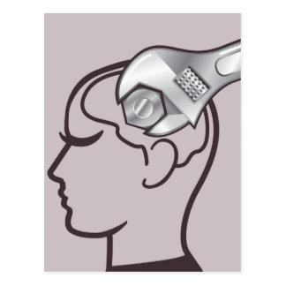 Adjustable wrench brain adjust postcard