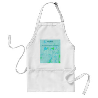 Adjustible Text Aquamarine Rosemary Herbal Meaning Adult Apron