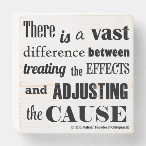 Adjusting The Cause Palmer Quote Chiropractic Wood Wooden Box Sign
