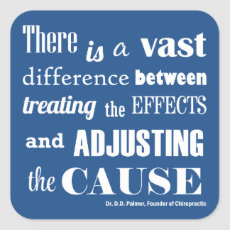 Adjusting the Cause Quote Chiropractic Stickers