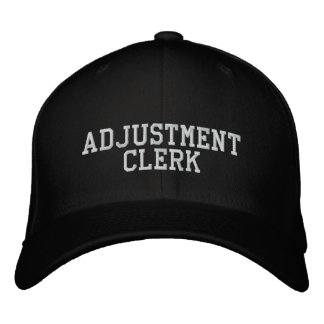 Adjustment Clerk Embroidered Baseball Cap