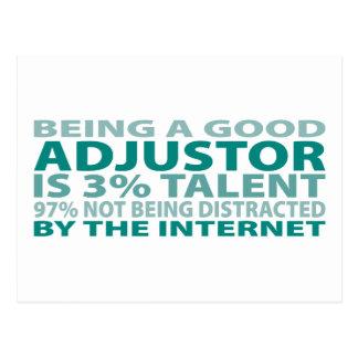 Adjustor 3% Talent Postcard