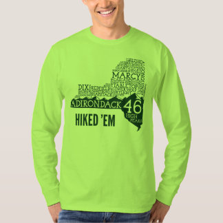 ADK46 Hiked Long Sleeve T-Shirt (Green Logo)