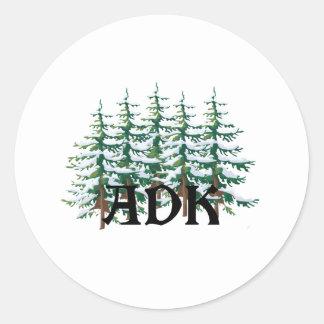 ADK Adirondack Pines Classic Round Sticker