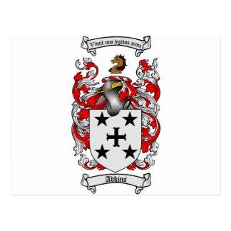 Adkins Coat of Arms / Adkins Family Crest Postcard