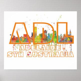 ADL ADELAIDE AUSTRALIA - Poster
