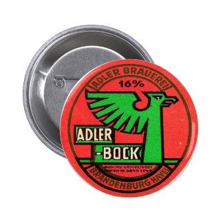 Adler Bock big round Pinback Button