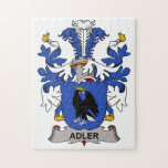 Adler Family Crest Jigsaw Puzzle
