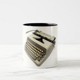 Adler J4 typewriter Two-Tone Coffee Mug