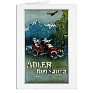 Adler Kleinauto Tarjeta De Felicitación